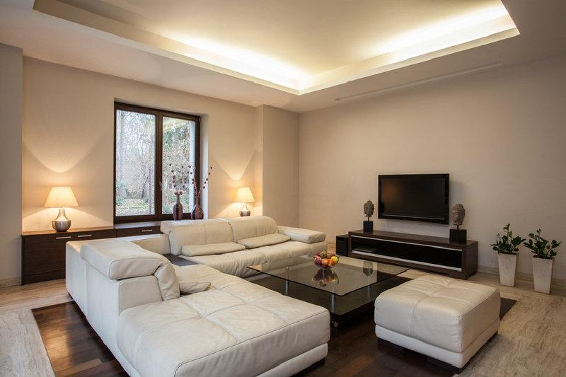 mit der richtigen beleuchtung im wohnzimmer geschickt akzente setzen. Black Bedroom Furniture Sets. Home Design Ideas