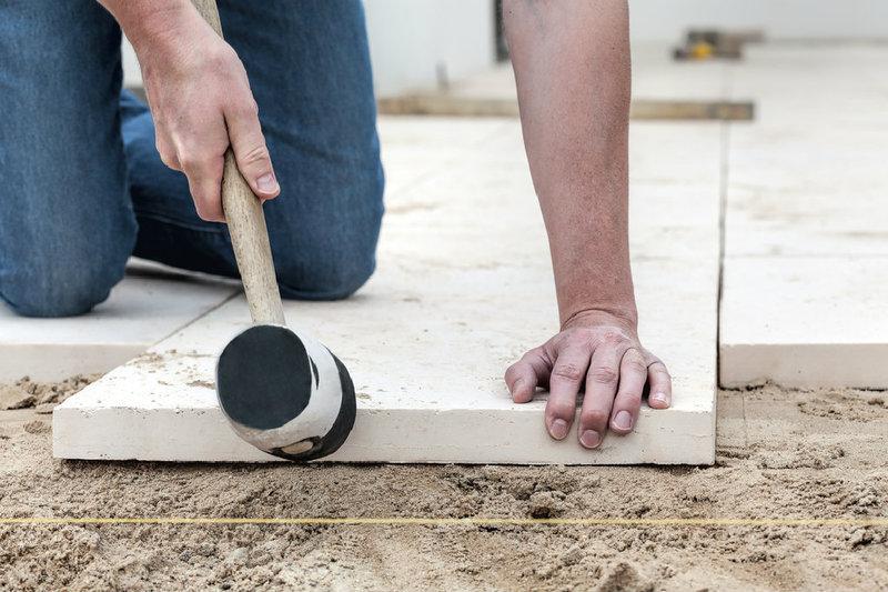 Terrassenplatten Richtig Auf Beton Verlegen Www Bauwohnwelt At